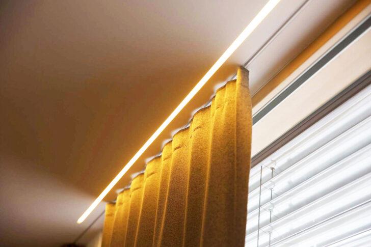 Medium Size of Schwebende Vorhnge Mit Led Effekt Neue Einputzschiene Fr Küche Vorhänge Wohnzimmer Schlafzimmer Wohnzimmer Vorhänge Schiene