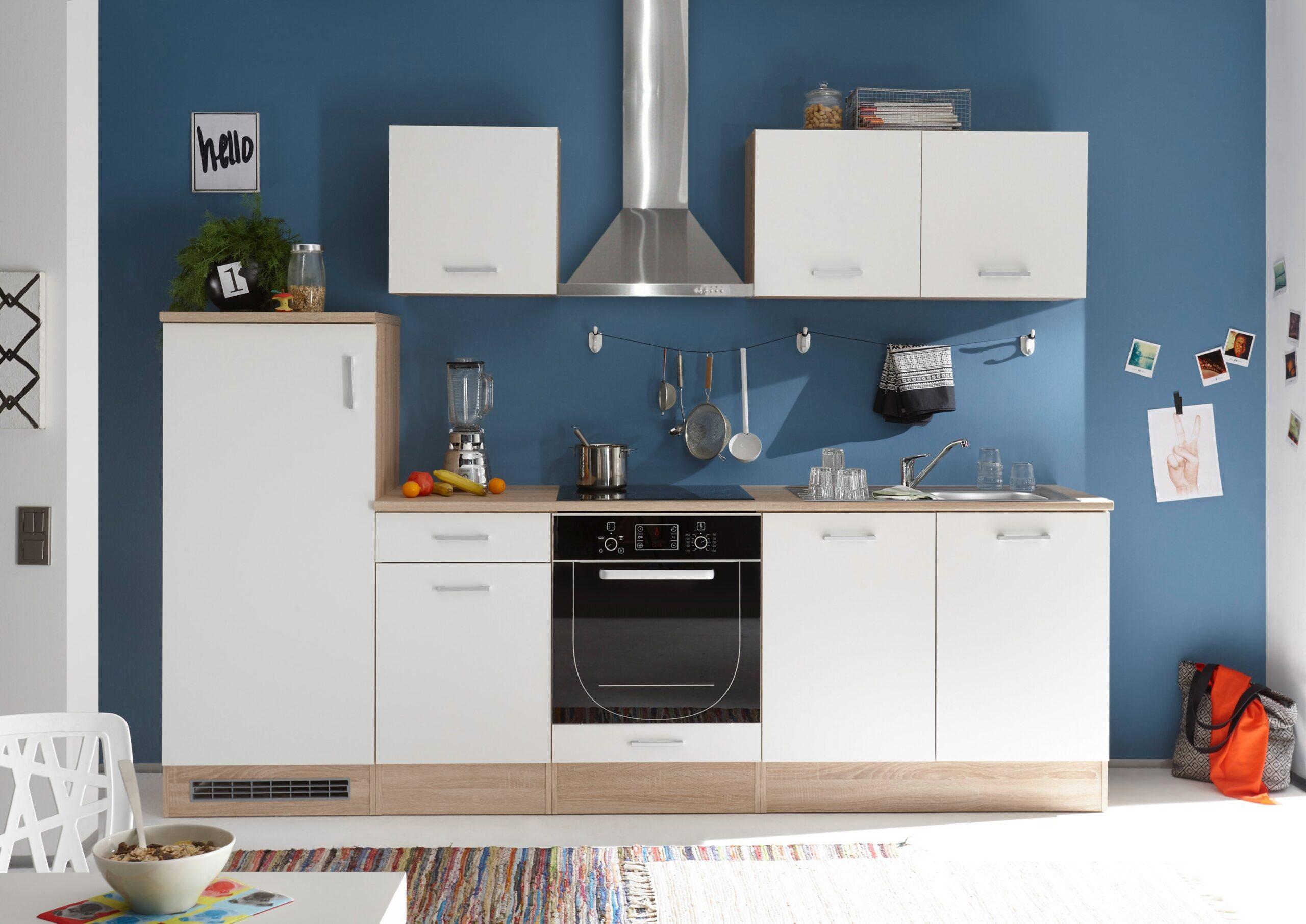 Full Size of Kche And Kchenblock Kchenzeile Komplettkche 270cm Singlekche Wohnzimmer Miniküchen