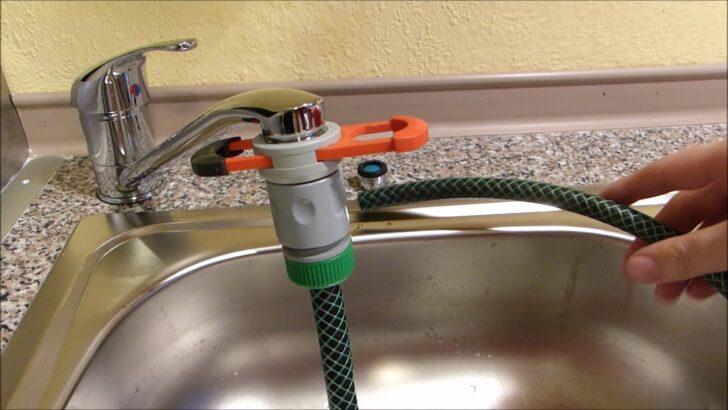 Medium Size of Anleitung Gartenschlauch An Wasserhahn Von Waschbecken Oder Bad Küche Wandanschluss Für Wohnzimmer Wasserhahn Anschluss