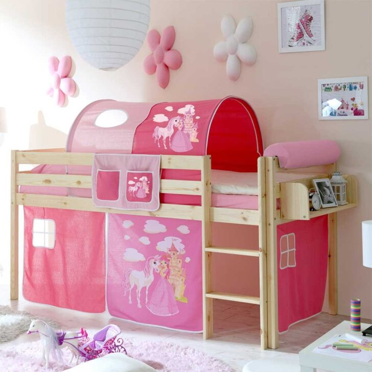 Medium Size of Mädchenbetten Pharao24 Mdchenbett Im Prinzessin Design Halbhoch Hngeregal Ja Wohnzimmer Mädchenbetten