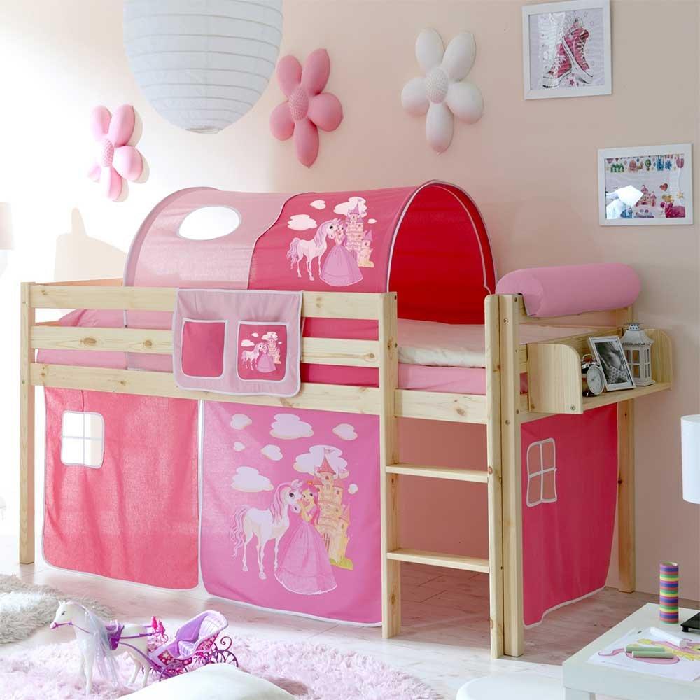 Full Size of Mädchenbetten Pharao24 Mdchenbett Im Prinzessin Design Halbhoch Hngeregal Ja Wohnzimmer Mädchenbetten