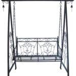 Metall Hollywoodschaukel Schaukel Gartenschaukel Antik Vintage Bett Regale Regal Weiß Wohnzimmer Gartenschaukel Metall