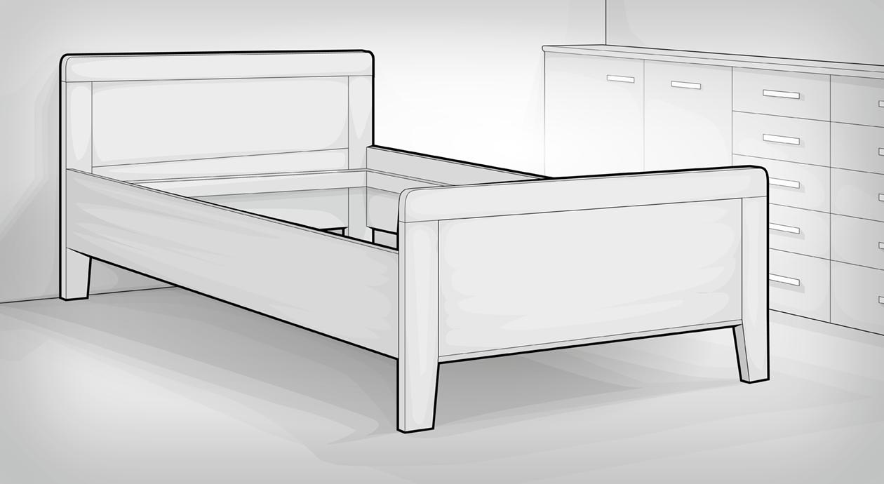 Full Size of Klappbares Doppelbett Das Bettgestell Basis Des Europischen Bettes Bett1de Ausklappbares Bett Wohnzimmer Klappbares Doppelbett