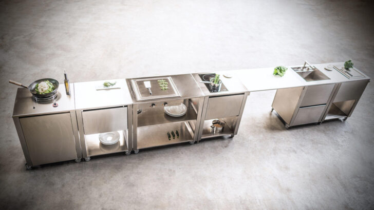 Medium Size of Mobile Outdoorküche Outdoorkchen Fr Garten Und Terrasse Küche Wohnzimmer Mobile Outdoorküche