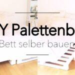 Bauanleitung Bauplan Palettenbett Paletten Bett 200x140 Wohnzimmer Bauanleitung Bauplan Palettenbett