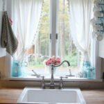 Raffrollo Küchenfenster Wohnzimmer 50 Fenstervorhnge Ideen Fr Kche Klassisch Und Modern Raffrollo Küche