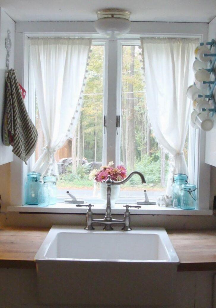 Medium Size of 50 Fenstervorhnge Ideen Fr Kche Klassisch Und Modern Raffrollo Küche Wohnzimmer Raffrollo Küchenfenster