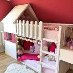Mdchen Betten Selbstgebautes Hochbett Haus Bett Kinderzimmer Test Wohnzimmer Mädchenbetten