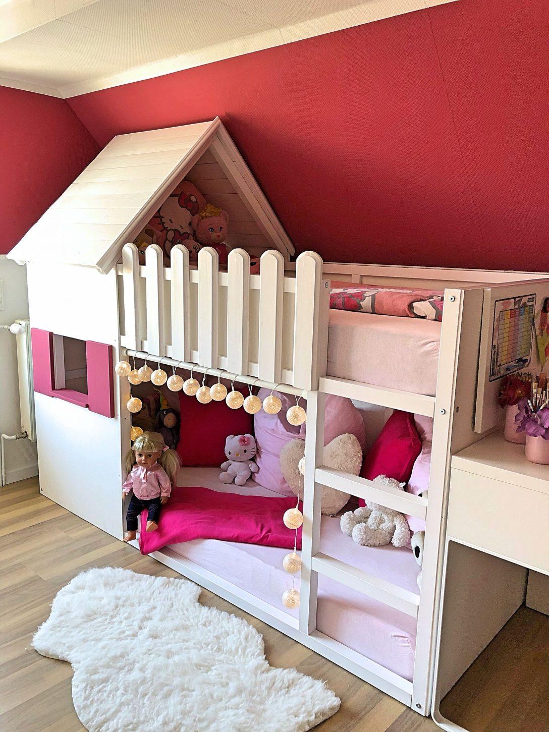 Full Size of Mdchen Betten Selbstgebautes Hochbett Haus Bett Kinderzimmer Test Wohnzimmer Mädchenbetten