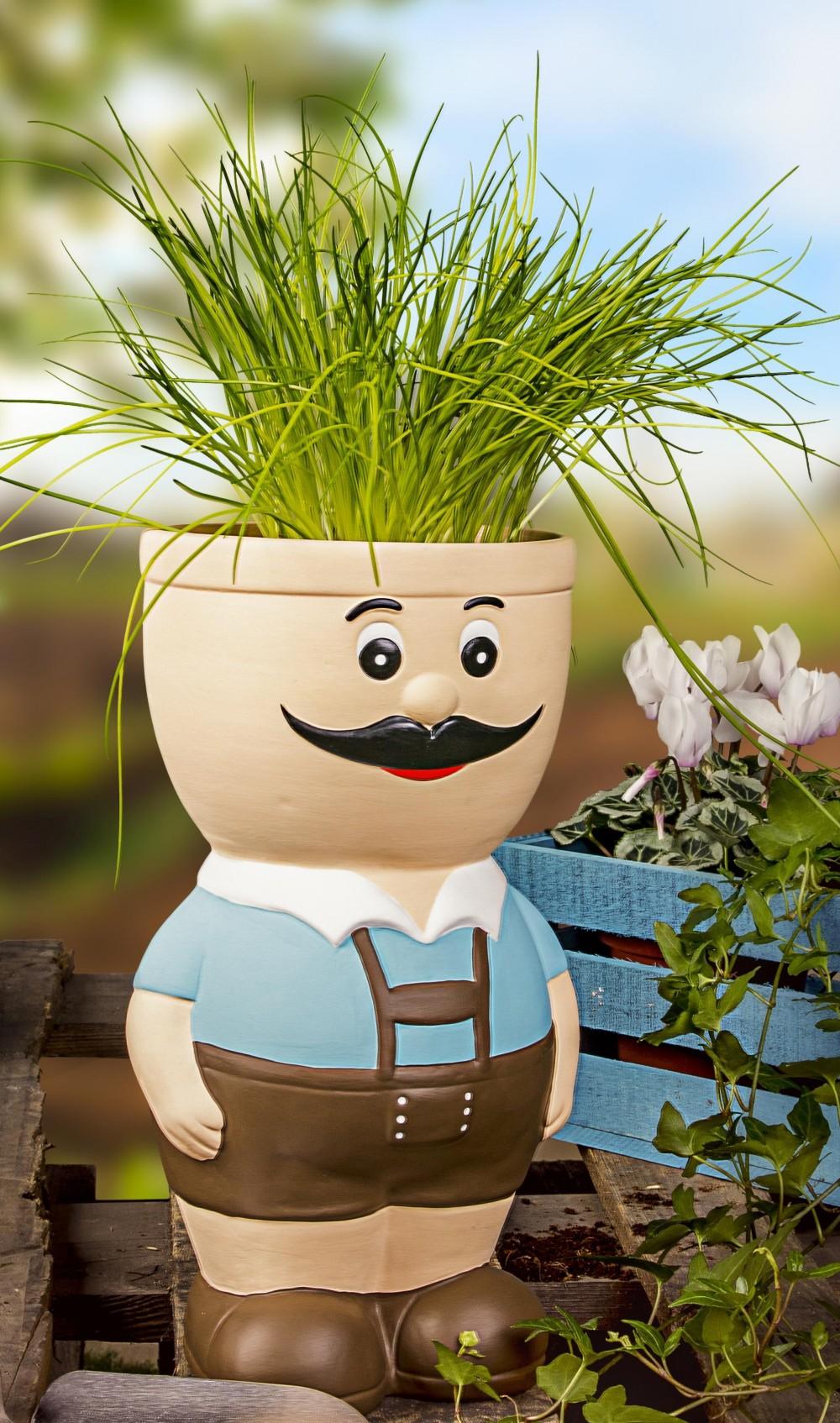 Full Size of Blumentopf Figur Sepp Aus Keramik Krutertopf Bertopf Fr Blumen Kräutertopf Küche Waschbecken Wohnzimmer Kräutertopf Keramik