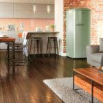 Retro Kche Im Stil Der 50er Bis 70er Jahre Sofa Alternatives Küchen Regal Wohnzimmer Alternative Küchen