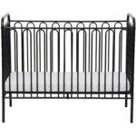 Babybett Schwarz Kinderbett Gitterbett Aus Metall Polini 150 Bett Weiß Schwarze Küche 180x200 Schwarzes Wohnzimmer Babybett Schwarz