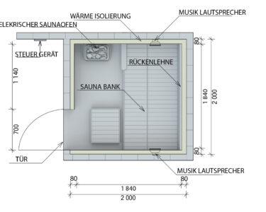 Außensauna Wandaufbau Wohnzimmer Außensauna Wandaufbau Saunaintercom