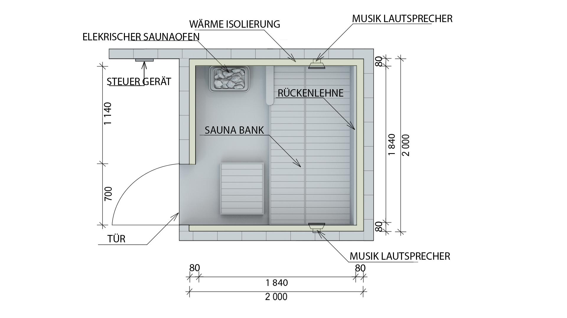 Full Size of Außensauna Wandaufbau Saunaintercom Wohnzimmer Außensauna Wandaufbau