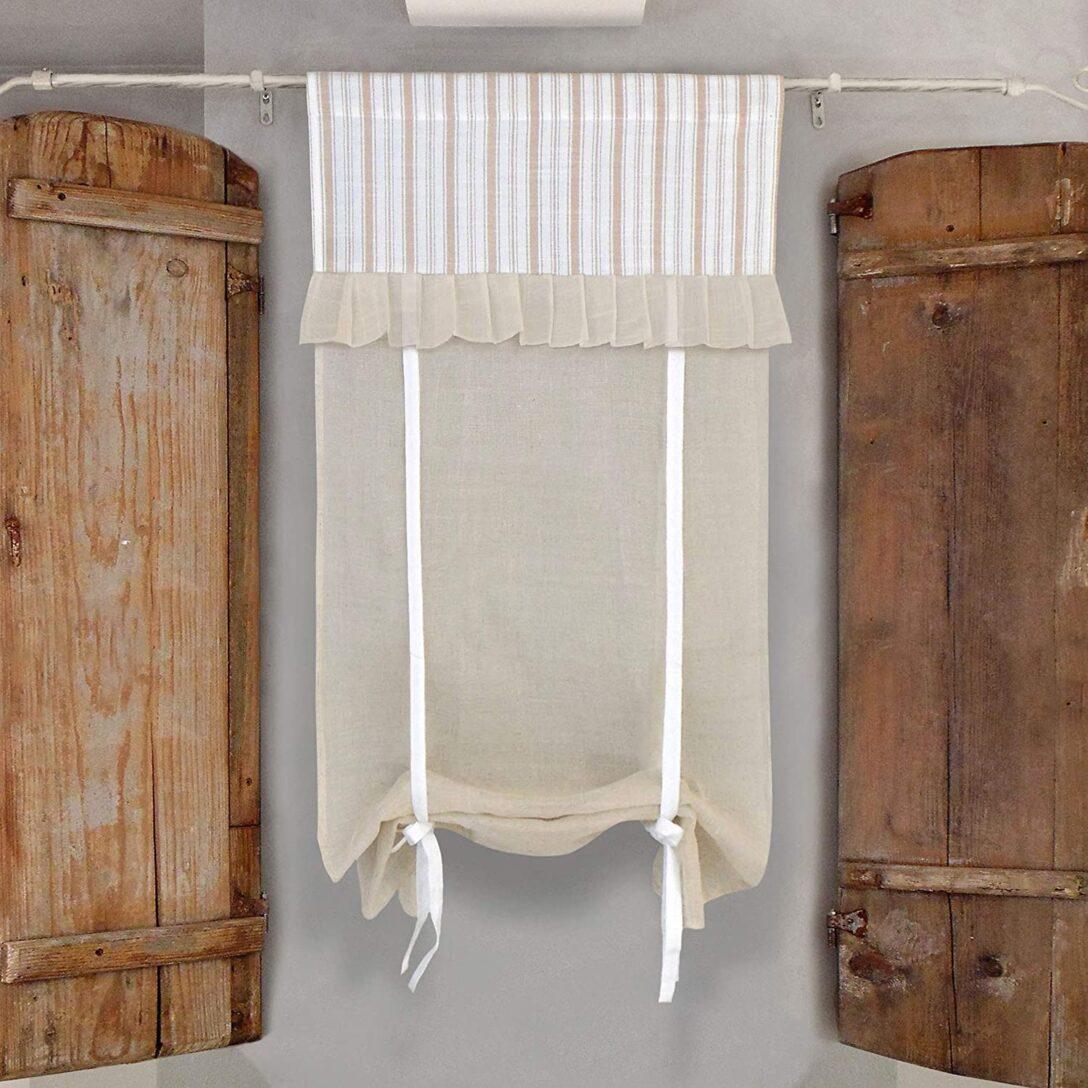Large Size of Glshabby Vorhang Gardine Raffrollo Raffgardine Landhaus Shabby Küchen Regal Küche Wohnzimmer Küchen Raffrollo