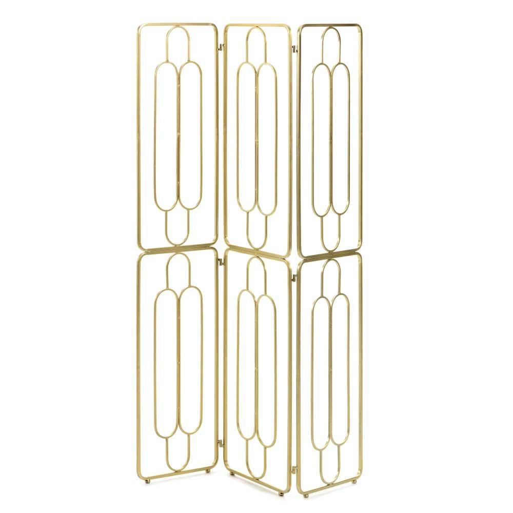 Full Size of Modern Art Deco Paravent In Gold Aus Stahl 123x182x2 Cm Atlanta Regale Metall Regal Bett Outdoor Küche Kaufen Edelstahl Garten Weiß Wohnzimmer Paravent Outdoor Metall