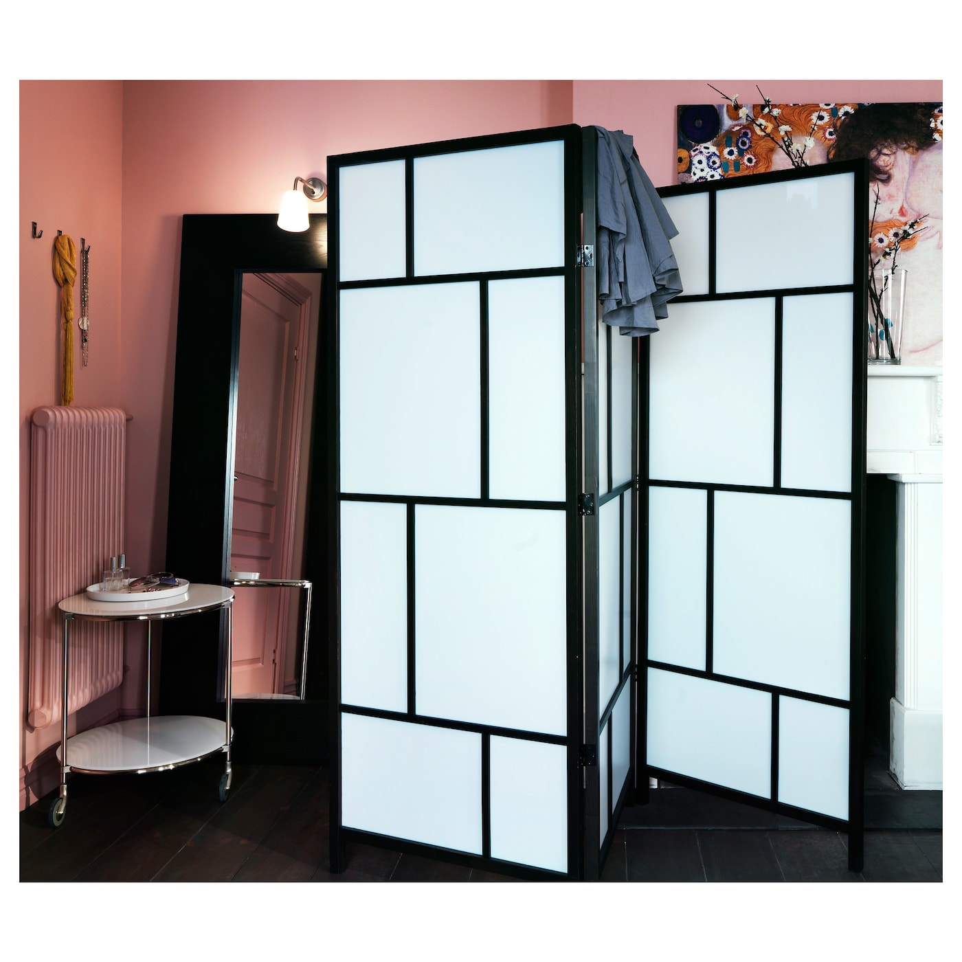 Full Size of Risr Raumteiler Praktischer Paravent Mit Massivholz Rahmen Garten Wohnzimmer Paravent Gartenikea