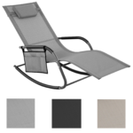 Sonnenliege Schaukelstuhl Liegestuhl Gartenliege Ausklappbares Bett Ausklappbar Wohnzimmer Schaukelliege Klappbar