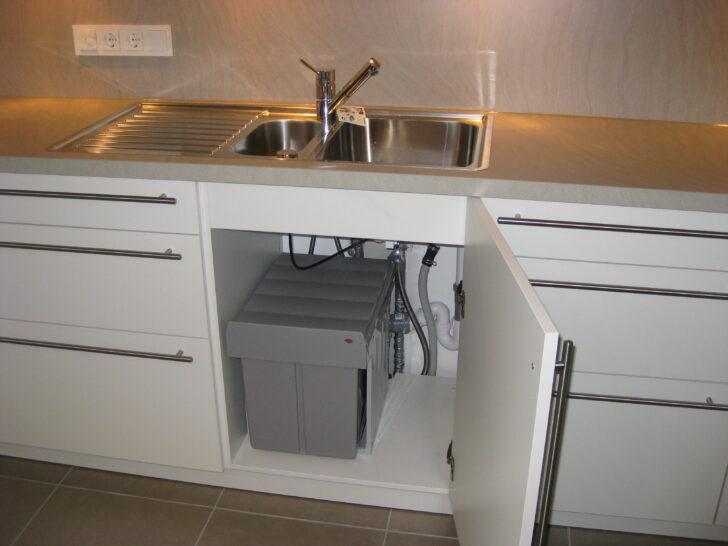 Medium Size of Müllsystem Kche Eg Projekt Zweifamilienhaus Am Waldrand Küche Wohnzimmer Müllsystem