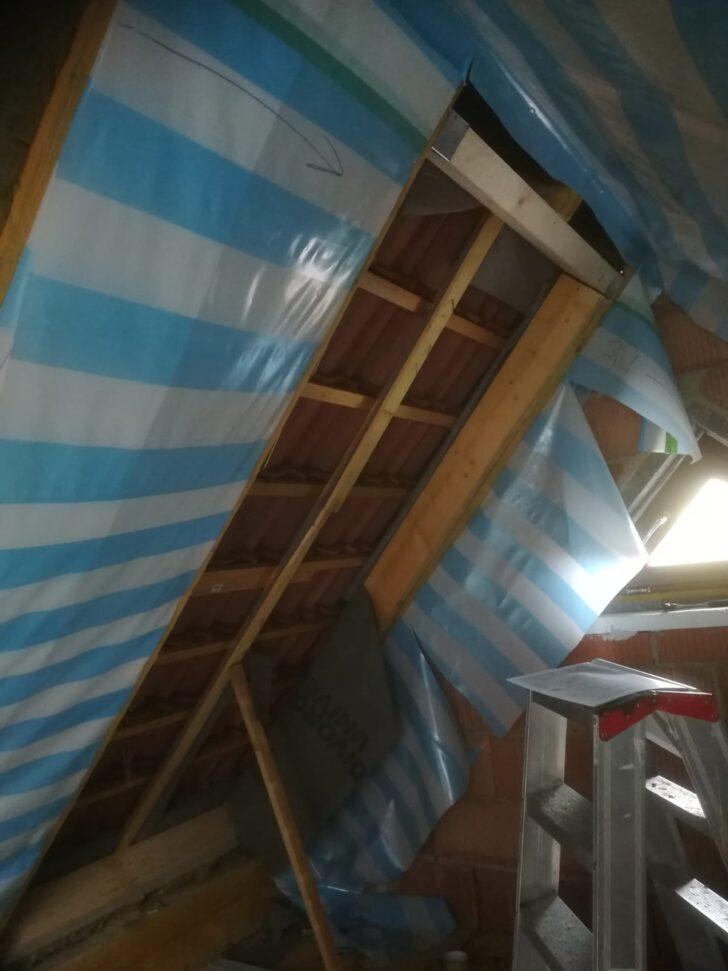 Medium Size of Dachfenster Einbauen Hier Wurden Dachsparren Ausgewechselt Damit Ich Ein Velux Bodengleiche Dusche Neue Fenster Nachträglich Kosten Rolladen Wohnzimmer Dachfenster Einbauen