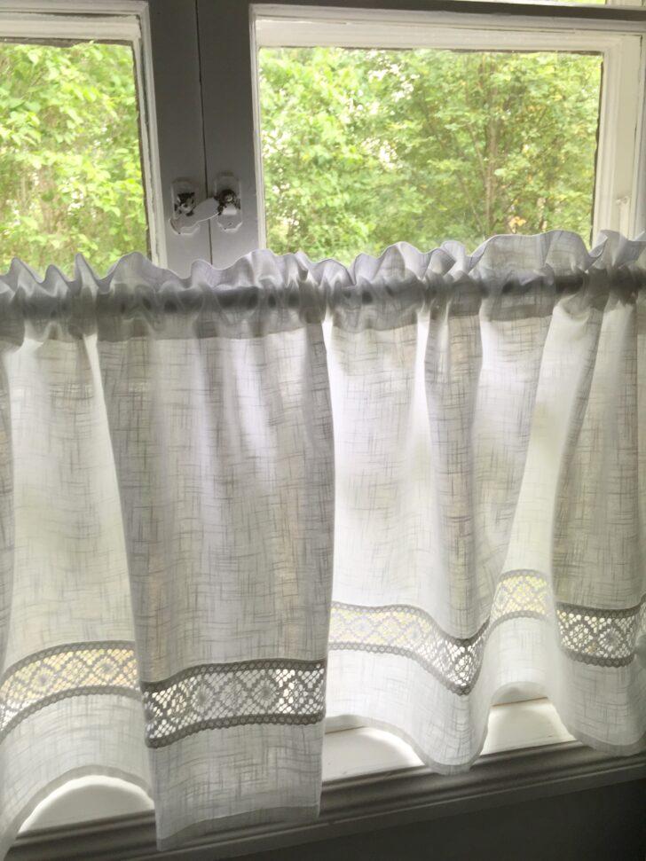 Medium Size of Kurzgardine Scheibengardine Lina White 55x250cm Hkelbordre Bad Landhausstil Sofa Wohnzimmer Bett Schlafzimmer Weiß Esstisch Scheibengardinen Küche Regal Wohnzimmer Scheibengardinen Landhausstil