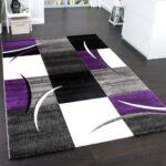 Teppich 300x400 Wohnzimmer Designer Teppich Karo Lila Grau Teppichcenter24 Für Küche Wohnzimmer Steinteppich Bad Teppiche Schlafzimmer Esstisch Badezimmer