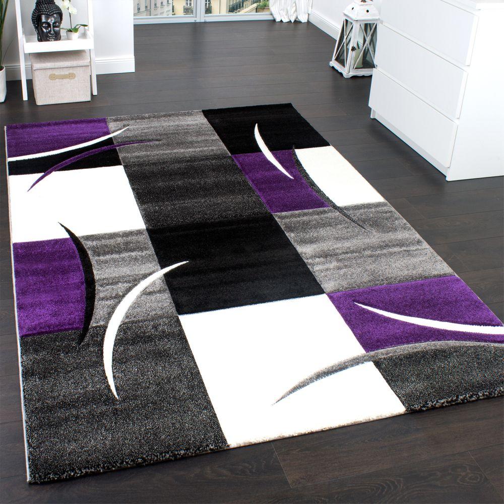 Full Size of Designer Teppich Karo Lila Grau Teppichcenter24 Für Küche Wohnzimmer Steinteppich Bad Teppiche Schlafzimmer Esstisch Badezimmer Wohnzimmer Teppich 300x400