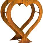 Holzlege Cortenstahl Hark Herzform Amazonde Garten Wohnzimmer Holzlege Cortenstahl