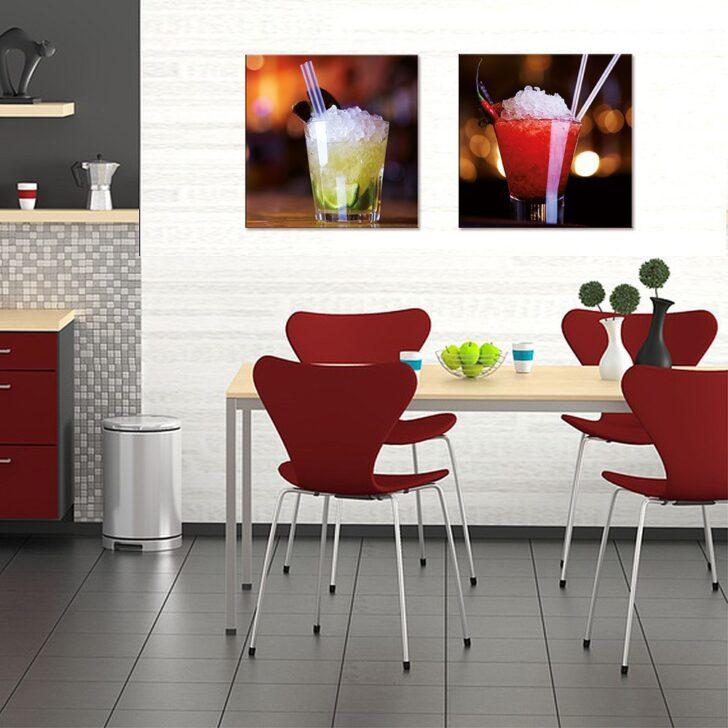 Medium Size of Glasbild 50x50cm Kche Kchenbild Cocktail Rot Artissimo Art Glasbilder Küche Küchen Regal Bad Wohnzimmer Küchen Glasbilder