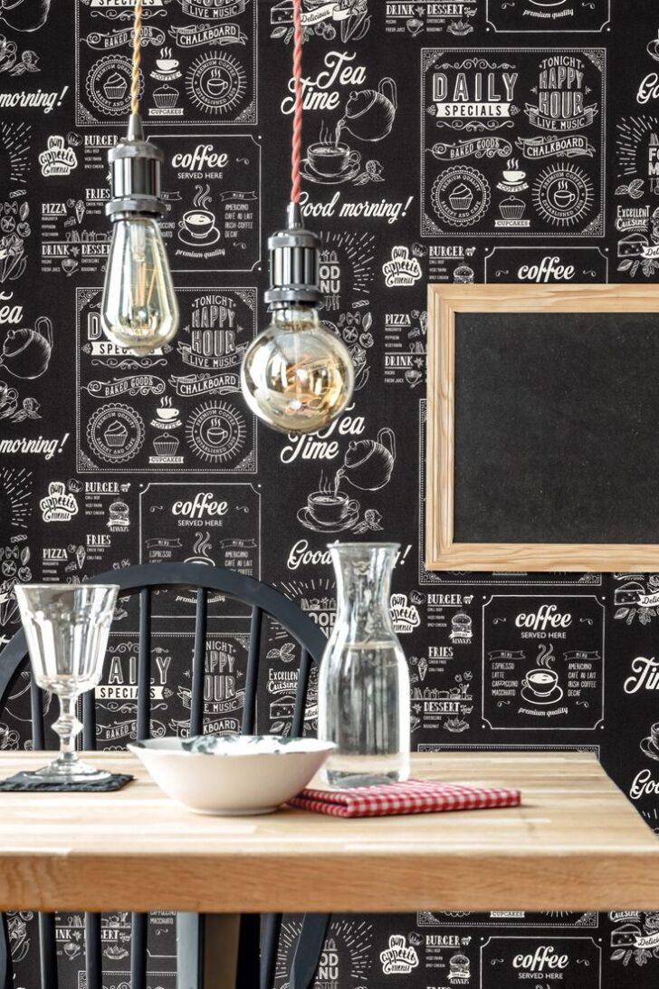 Medium Size of Tapete Chalkboard Anthrazit Tapeten Musterküche Single Küche Bodenbelag Was Kostet Eine Neue Kurzzeitmesser Sitzbank Mit Lehne Ausstellungsstück Wohnzimmer Tapete Küche Kaffee