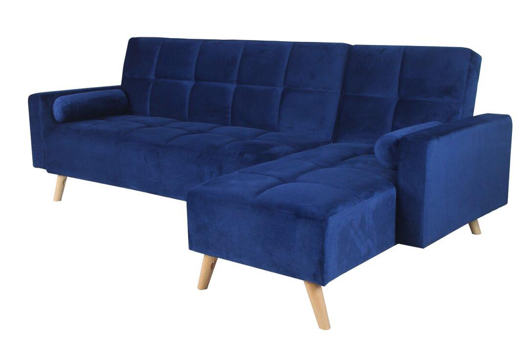 Large Size of Couch Ausklappbar Ecksofa Mariam Ii Blau 144 162cml Tx251cmbx89cm Ausklappbares Bett Wohnzimmer Couch Ausklappbar