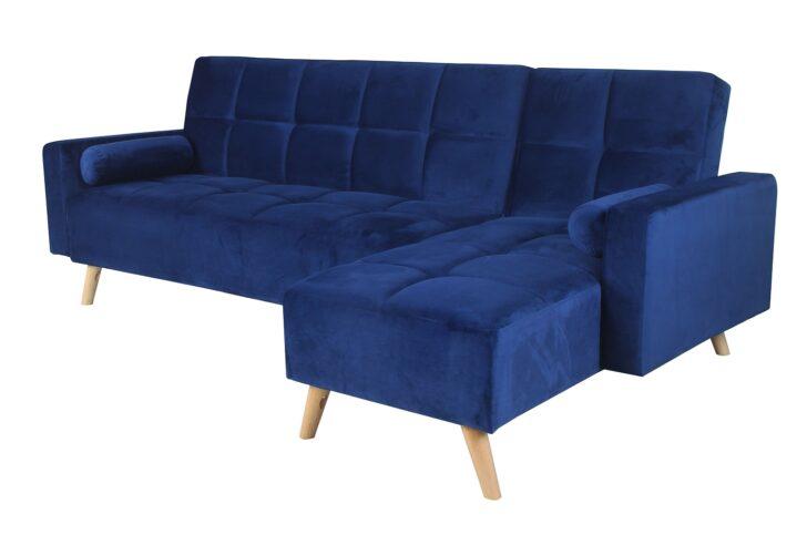 Medium Size of Couch Ausklappbar Ecksofa Mariam Ii Blau 144 162cml Tx251cmbx89cm Ausklappbares Bett Wohnzimmer Couch Ausklappbar