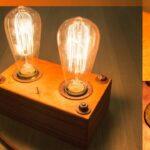 Holz Led Lampe Selber Bauen Retro Edison Steampunk Style Bodengleiche Dusche Nachträglich Einbauen Esstisch Massiv Deckenlampe Küche Betten Massivholz Wohnzimmer Holz Led Lampe Selber Bauen