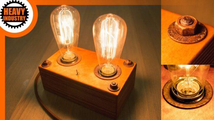 Medium Size of Holz Led Lampe Selber Bauen Retro Edison Steampunk Style Bodengleiche Dusche Nachträglich Einbauen Esstisch Massiv Deckenlampe Küche Betten Massivholz Wohnzimmer Holz Led Lampe Selber Bauen