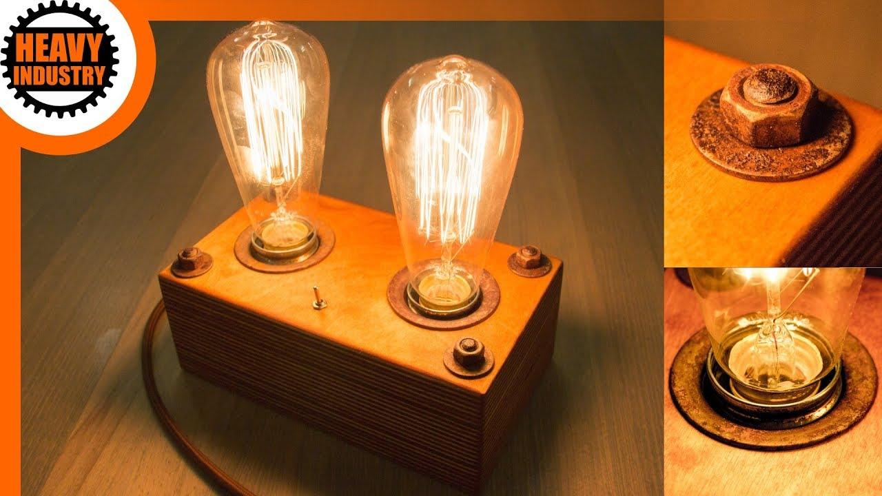 Full Size of Holz Led Lampe Selber Bauen Retro Edison Steampunk Style Bodengleiche Dusche Nachträglich Einbauen Esstisch Massiv Deckenlampe Küche Betten Massivholz Wohnzimmer Holz Led Lampe Selber Bauen