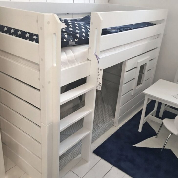 Medium Size of Halbhohes Hochbett Roomstar 125cm Bett Wohnzimmer Halbhohes Hochbett