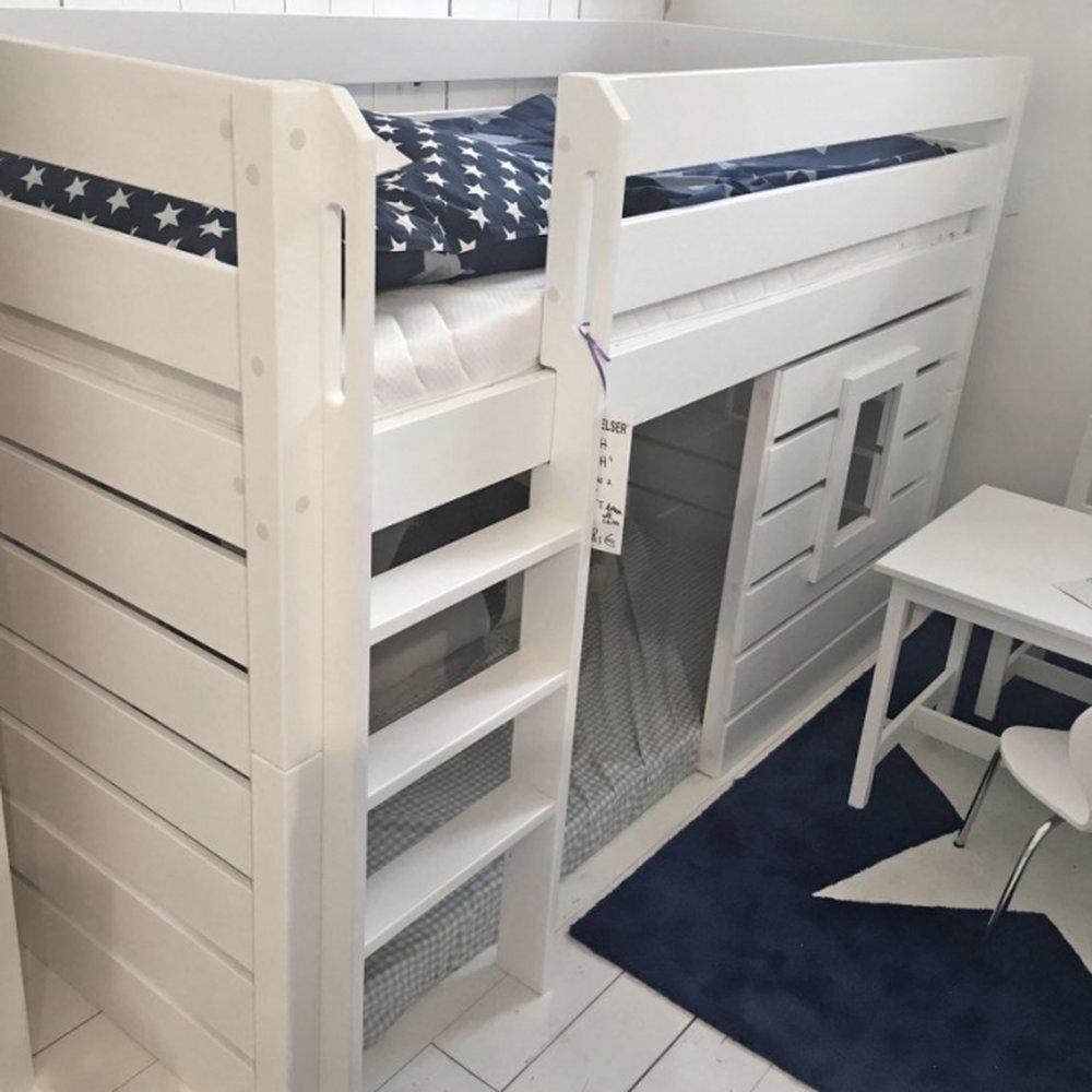 Full Size of Halbhohes Hochbett Roomstar 125cm Bett Wohnzimmer Halbhohes Hochbett