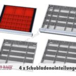 Schubladenschrank Inkl 4 Schubladeneinteilungen Stecksystem Regal Schubladeneinsatz Küche Wohnzimmer Schubladeneinsatz Stecksystem