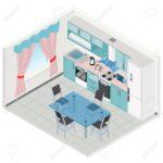 Türkise Küche Wohnzimmer Türkise Küche Vector Isometrische Kche Trkise Farbe Interieur 3d Darstellung Einzelschränke Teppich L Form Billige Glaswand Ikea Kosten Billig Aufbewahrung