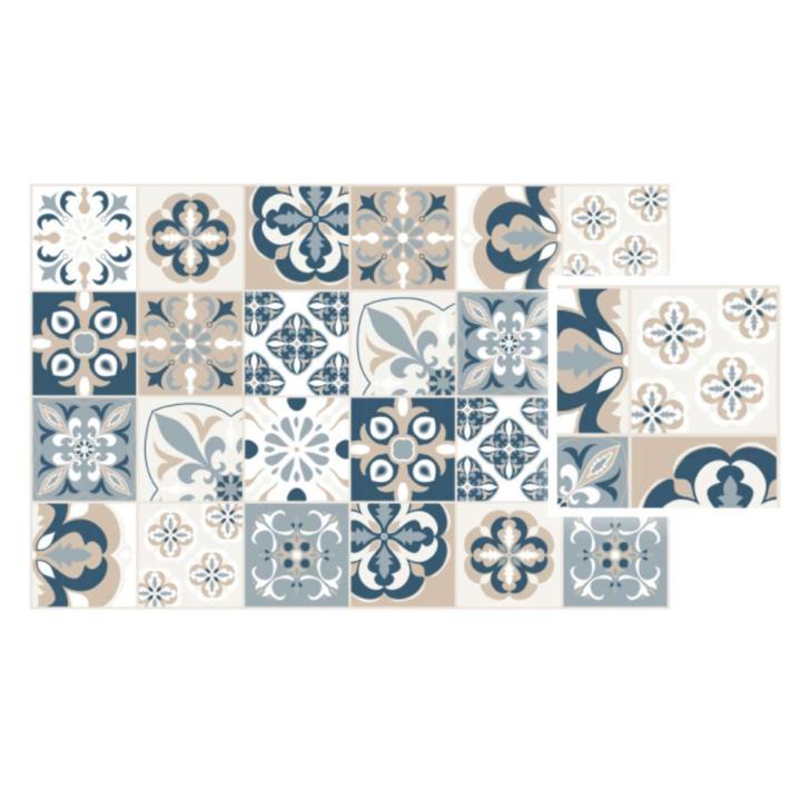 Medium Size of Vinyl Teppich Matteo Mosaic Blau Beige Mosaik Vinylboden Wohnzimmer Küche Badezimmer Fürs Bad Teppiche Für Steinteppich Im Verlegen Schlafzimmer Esstisch Wohnzimmer Vinyl Teppich