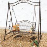 Regale Metall Regal Weiß Bett Wohnzimmer Gartenschaukel Metall