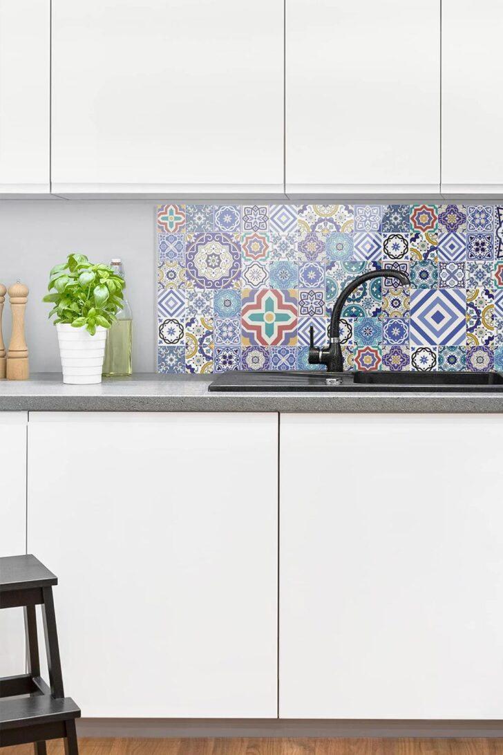 Medium Size of Küchen Fliesenspiegel Spritzschutz Glas Aufwndige Portugiesische Küche Selber Machen Regal Wohnzimmer Küchen Fliesenspiegel
