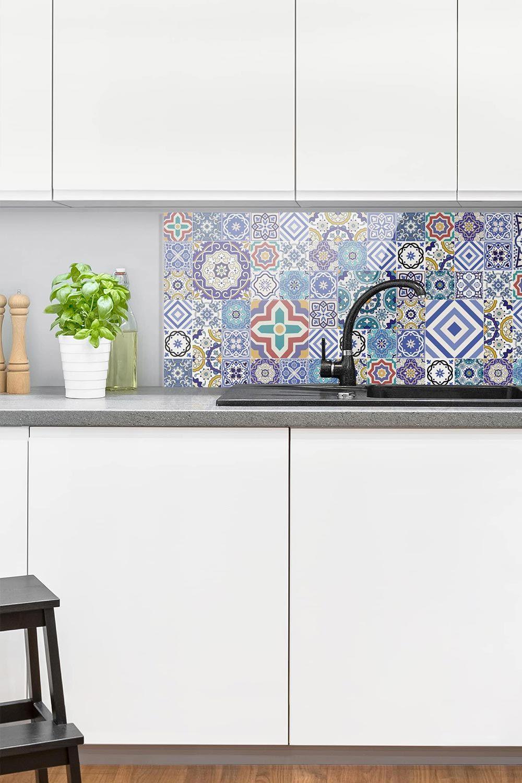 Full Size of Küchen Fliesenspiegel Spritzschutz Glas Aufwndige Portugiesische Küche Selber Machen Regal Wohnzimmer Küchen Fliesenspiegel