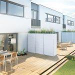 Abstellraum Und Trennwand Fr Terrassen Balkone Glastrennwand Dusche Garten Wohnzimmer Trennwand Balkon
