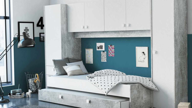 Full Size of überbau Schlafzimmer Modern Bett Berbau Set Concrete Wei Betonoptik 90x200 Cm Wandtattoo Wandbilder Luxus Regal Nolte Deckenlampen Wohnzimmer Wandlampe Led Wohnzimmer überbau Schlafzimmer Modern