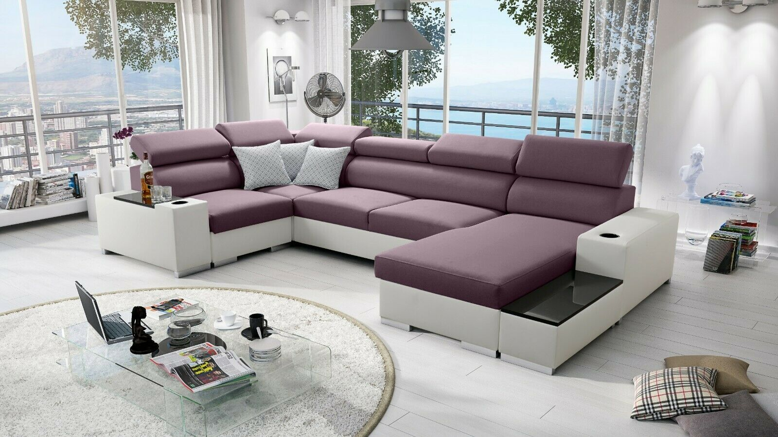 Full Size of Sofa Bezug Ecksofa Garten Großes Bett Bild Wohnzimmer Mit Ottomane Regal Wohnzimmer Großes Ecksofa