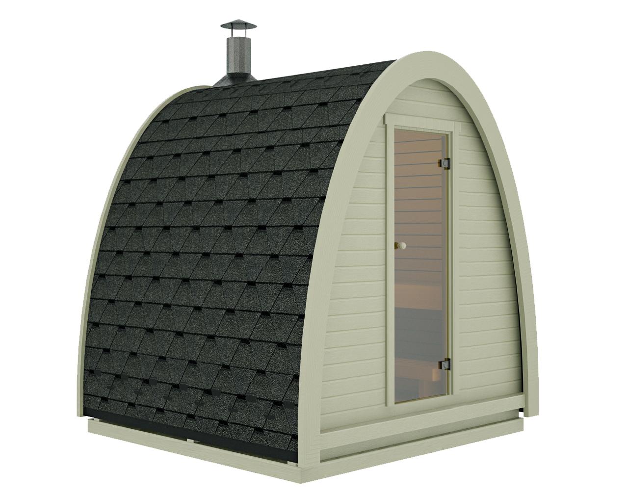 Full Size of Gartensauna Bausatz Mini Sauna Pod Fr Kleine Grten Wahlweise Mit Oder Ohne Ofen Wohnzimmer Gartensauna Bausatz