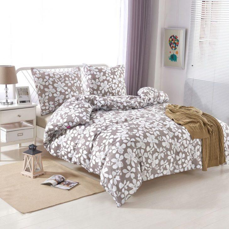 Medium Size of Bettwäsche 155x220 Vidaxl 2 Tlg Bettwsche Set Blumenprint 80x80 Cm Gitoparts Sprüche Wohnzimmer Bettwäsche 155x220