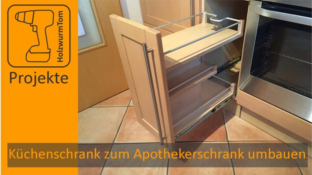 Large Size of Kchenschrank Zum Apothekerschrank Umbauen Diy Kitchen Drawer Küche Wohnzimmer Apothekerschrank Halbhoch