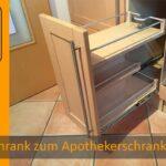 Kchenschrank Zum Apothekerschrank Umbauen Diy Kitchen Drawer Küche Wohnzimmer Apothekerschrank Halbhoch
